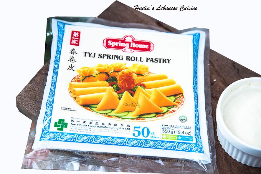 crispy spring rolls  hadia's lebanese cuisine