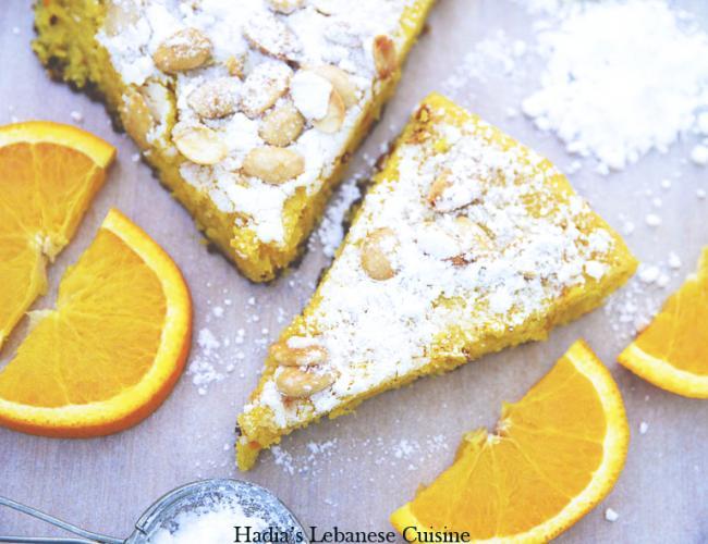 Flourless Orange Cake Without Sugar