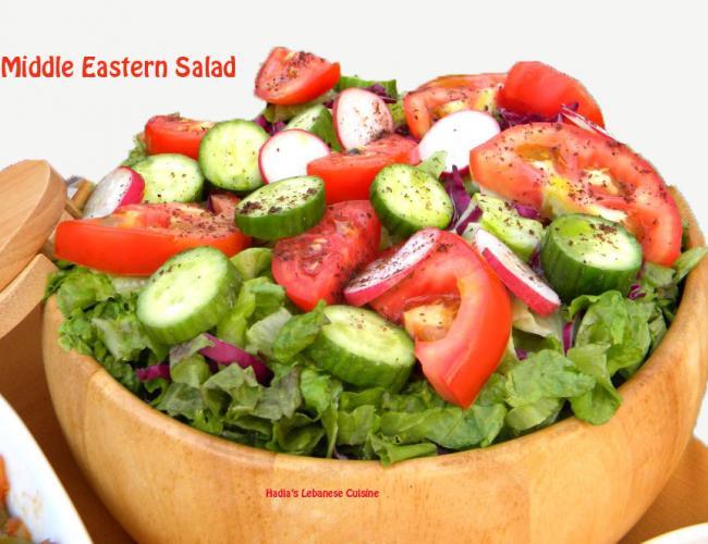 Middle Eastern Salad | Hadia's Lebanese Cuisine